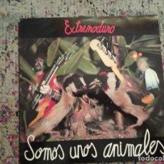 Discos de vinilo: ª EXTREMODURO - SOMOS UNOS ANIMALES - CARADURA HAAA! 1991,CON POSTER Y LETRAS,UNICO. Lote 261572705