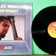 Discos de vinilo: CHARLES MINGUS . MINGUS DINASTY. CBS LIMPO, TRATADO CON ALCOHOL ISOPROPÍLICO. Lote 261572825