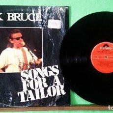 Discos de vinilo: JACK BRUCE .(EX CREAM) SONGS FOR A TAILOR .LIMPIO CON ALCOHOL ISOPROPÍLICO.CON PRECINTO ABIERTO. Lote 261576425