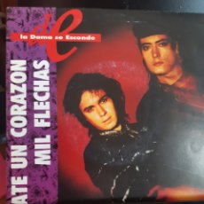 Discos de vinilo: LA DAMA SE ESCONDE,LATE UN CORAZON. Lote 261578735