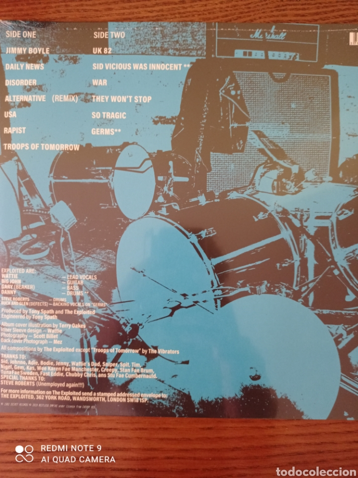 Discos de vinilo: THE EXPLOITED. TROOPS OF TOMORROW. NUEVO. - Foto 2 - 261581590
