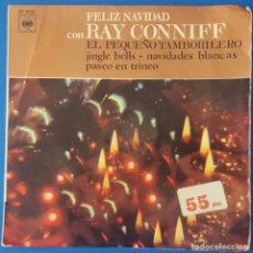 Discos de vinilo: EP / RAY CONNIFF - PASEO EN TRINEO - NAVIDADES BLANCAS - JINGLE BELLS - EL PEQUEÑO TAMBORILERO, 1966. Lote 261587795
