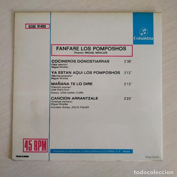Discos de vinilo: FANFARE LOS POMPOSHOS - COCINEROS DONOSTIERRAS - RARO EP COLUMBIA DEL AÑO 1972 COMO NUEVO - Foto 2 - 261592960