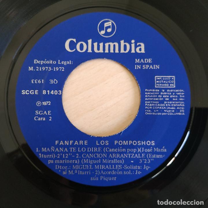 Discos de vinilo: FANFARE LOS POMPOSHOS - COCINEROS DONOSTIERRAS - RARO EP COLUMBIA DEL AÑO 1972 COMO NUEVO - Foto 4 - 261592960