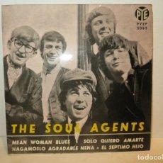 Discos de vinilo: MEGA RARO Y EN ESTE ESTADO THE SOUL AGENTS EP MEAN WOMAN BLUES + 3 ESPAÑA 1964. Lote 261620070