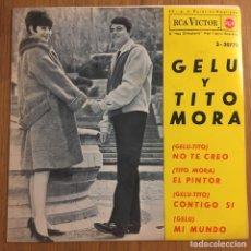 Discos de vinilo: GELU Y TITO MORA EP RCA ESPAÑA 1964. Lote 261620375