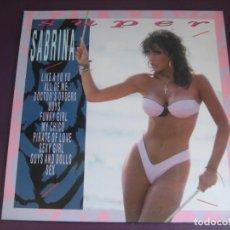 Disques de vinyle: SUPER SABRINA - LP BLANCO Y NEGRO 1989 - ELECTRONICA DISCO 80'S - ITALODISCO - SIN ESTRENAR + POSTER. Lote 261623685