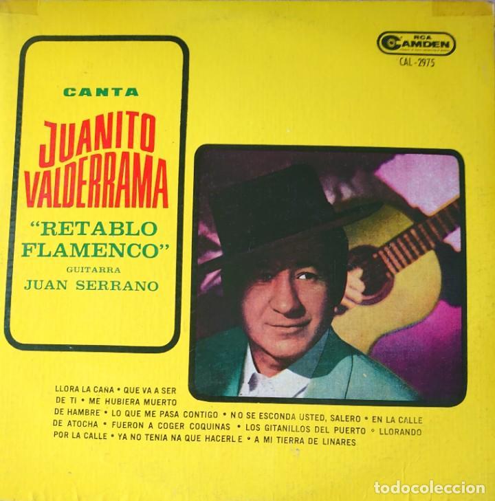 JUANITO VALDERRAMA LP SELLO RCA CAMDEN EDITADO EN ARGENTINA (Música - Discos - LP Vinilo - Flamenco, Canción española y Cuplé)