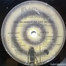 Discos de vinilo: IRON MAIDEN. THE NUMBER OF THE BEAST. EMI- PATHE MARCONI, FRANCE 1982 LP SIN CUBIERTA. Lote 261637850