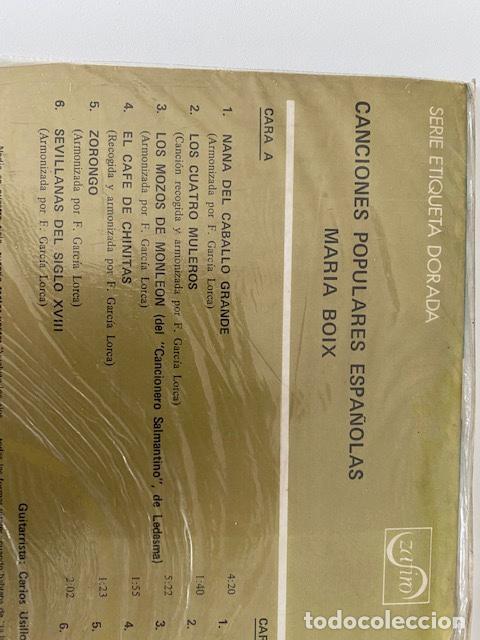 Discos de vinilo: Canciones populares Españolas, vinilo de 1972 a estrenar, ver fotos (3,33 envío certificado) - Foto 4 - 261644405