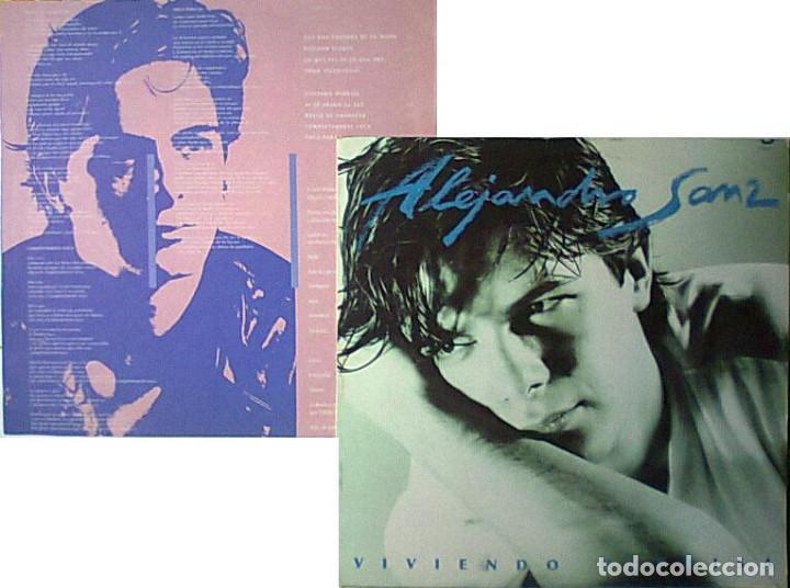 ALEJANDRO SANZ VIVIENDO DE PRISA LP 1991 IMPORTADO CON ENCARTE Y SIN CODIGOS DE BARRAS (Música - Discos de Vinilo - EPs - Solistas Españoles de los 70 a la actualidad)