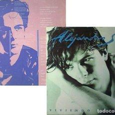 Discos de vinilo: ALEJANDRO SANZ VIVIENDO DE PRISA LP 1991 IMPORTADO CON ENCARTE Y SIN CODIGOS DE BARRAS. Lote 261649815