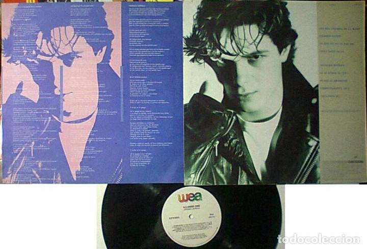 Discos de vinilo: ALEJANDRO SANZ VIVIENDO DE PRISA LP 1991 IMPORTADO CON ENCARTE Y SIN CODIGOS DE BARRAS - Foto 2 - 261649815