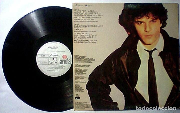 Discos de vinilo: SERGIO FACHELI CONTIGO LP 1982 IMPORTADO - Foto 2 - 261649945