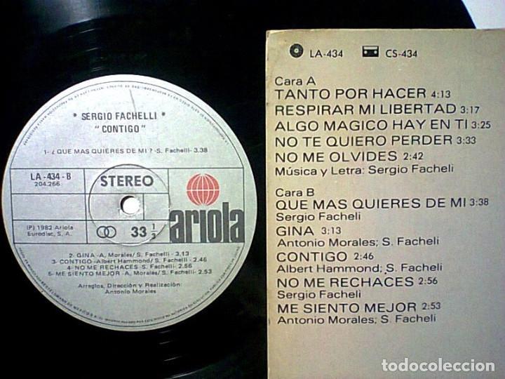 Discos de vinilo: SERGIO FACHELI CONTIGO LP 1982 IMPORTADO - Foto 3 - 261649945
