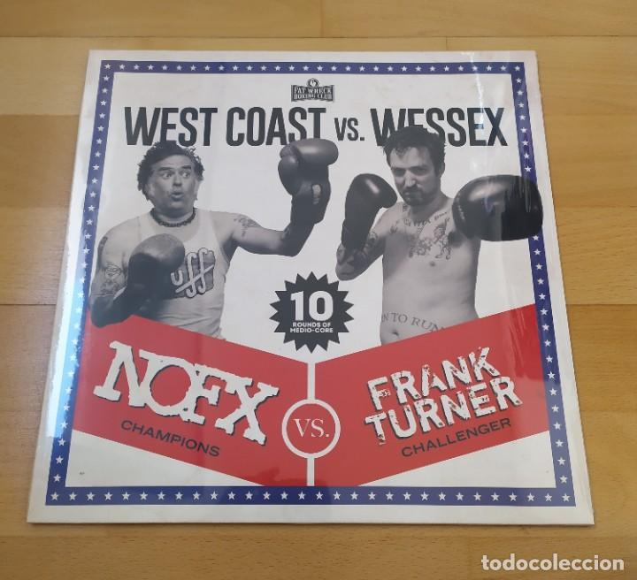 LP NOFX VS FRANK TURNER WEST COAST VS WESSEX FAT WRECK 20 CLEAR AZUL COMO NUEVO (Música - Discos - LP Vinilo - Punk - Hard Core)