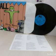 Discos de vinilo: ALL. -ALLROG SAVES--CRUZ RECORDS--1990-LONG BEACH- CONTIENE INSERT-. Lote 261670880