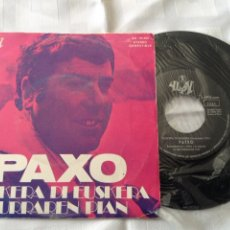 Discos de vinilo: PAXO - EUSKERA DI EUSKERA / LURRAREN PIAN - SINGLE ED. YUPY 1972. Lote 261674785