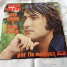 Dischi in vinile: NINO BRAVO - UN BESO Y UNA FLOR / POR FIN MAÑANA - POLYDOR 1973. Lote 261680085
