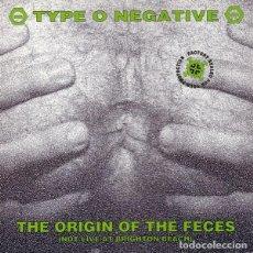 Dischi in vinile: TYPE O NEGATIVE LP THE ORIGIN OF THE FECES REEDICION VINILO MUY RARO COLECCIONISTA. Lote 261680335