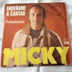 Discos de vinilo: MICKY - ENSEÑAME A CANTAR - EUROVISION 1977 - SINGLE ARIOLA. Lote 261686765