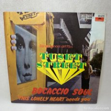 "Discos de vinilo: SINGLE AUGUSTO ALGUERO - BOCACCIO SOUL (BANDA SONORA DEL FILM ""TUSET STREET"") - ESPAÑA - AÑO 1968. Lote 261693155"