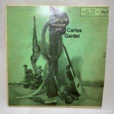 Discos de vinilo: EP CARLOS GARDEL - TANGOS CANTADOS POR CARLOS GARDEL - ESPAÑA - AÑO 1958. Lote 261696535