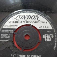 Discos de vinilo: SANDY NELSON.** LET THERE BE DRUMS * QUITE A BEAT**. Lote 261710395