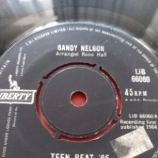 Discos de vinilo: SANDY NELSON.** TEEN BEAT 65' * KITTY'S THEME**. Lote 261723315