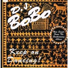 Discos de vinilo: D.J. BOBO - KEEP ON DANCING - MAXI SINGLE 1993 - ED. ITALIA. Lote 261786975