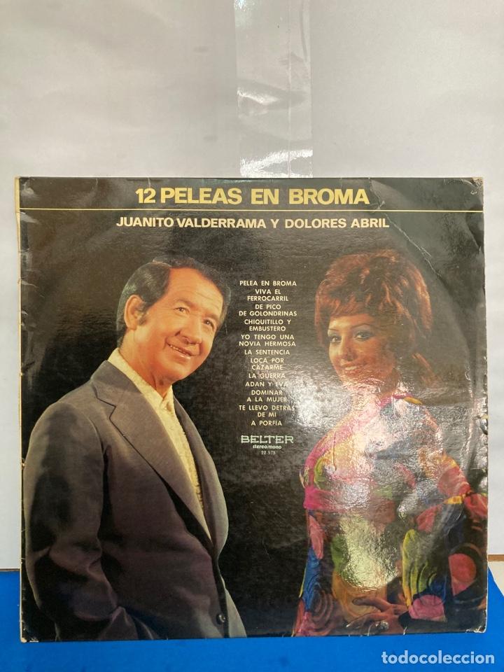 Discos de vinilo: Disco de vinilo LP , 12 peleas de broma de Juanito Valderrama y Dolores Abril - Foto 2 - 261787100
