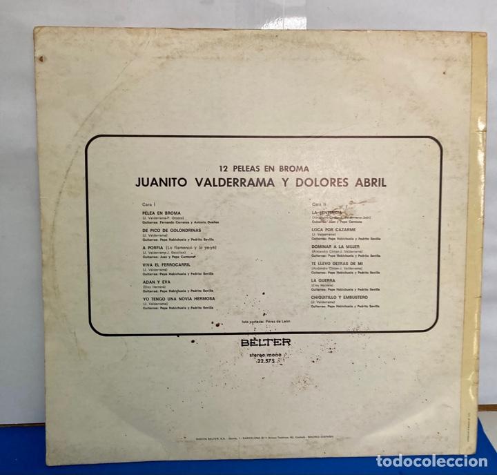 Discos de vinilo: Disco de vinilo LP , 12 peleas de broma de Juanito Valderrama y Dolores Abril - Foto 3 - 261787100