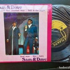 Discos de vinilo: EP SAM AND DAVE, CAN'T YOU FIND ANOTHER WAY, SOUL MAN, STILL IS THE NIGHT +1 , PORTUGUÉS. Lote 261791395