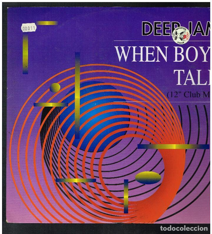 DEEP JAM - WHEN BOYS TALK - MAXI SINGLE 1991 - ED. ALEMANIA (Música - Discos de Vinilo - Maxi Singles - Pop - Rock Internacional de los 90 a la actualidad)