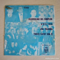 Discos de vinilo: LOS MAGNIFICOS Y MARBEL (CANTA ANTONIO LATORRE) - MAMBOLINO DEL SIMPLON EP PROMO DE 1971. Lote 261810610