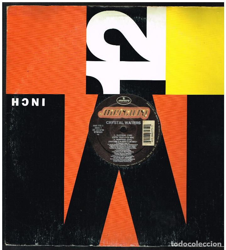 CRYSTAL WATERS - SURPRISE - MAXI SINGLE 1991 - ED. USA (Música - Discos de Vinilo - Maxi Singles - Pop - Rock Internacional de los 90 a la actualidad)