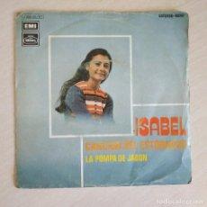 Discos de vinilo: ISABEL - CANCION DEL ESTORNUDO / LA POMPA DE JABON (SINGLE PROMO DEL AÑO 1971) VINILO NUEVO. Lote 261812620