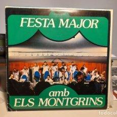 Disques de vinyle: LP ORQUESTRA ELS MONTGRINS : FESTA MAJOR ( SALSA, BOLEROS, CANCIONES POPULARES, SERRAT, ETC ). Lote 261815635