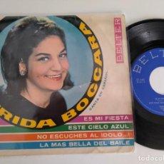 Discos de vinilo: FRIDA BOCCARO - ES MI FIESTA EP+3 . CANTA EN ESPAÑOL. Lote 261834285