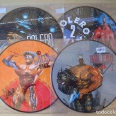 Discos de vinilo: BOLERO MIX : LOTE DE 4 LP PICTURE DISC NUEVOS Y SELLADOS (VOLUMENES 1, 2, 3 Y 4) - BLANCO Y NEGRO. Lote 261848365