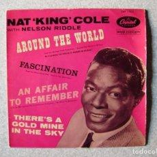 Discos de vinilo: NAT KING COLE..AROUND THE WORLD + 3....PEDIDO MINIMO 5€. Lote 261855250