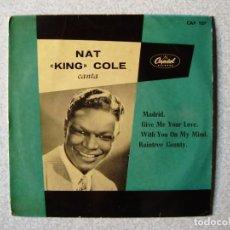 Discos de vinilo: NAT KIG COLE..MADRID + 3....PEDIDO MINIMO 5€. Lote 261855395