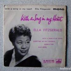 Discos de vinilo: ELLA FITZGERARD.WITH A SONG IN MY HEART + 3....PEDIDO MINIMO 5€. Lote 261856245