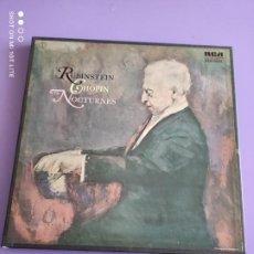 Discos de vinilo: JOYA CAJA. RUBINSTEIN CHOPIN THE NOCTURNES 2 LP BOX SET. RCA LSO 7050 RED SEAL. CON ENCARTE.. Lote 261856325