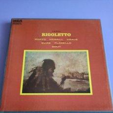 Discos de vinilo: BOX. VERDI - RIGOLETTO ( CAJA 2 LPS + LIBRETO RCA 1968 ESPAÑA ) SOLTI, RCA LMDS 7027. REDSEAL. Lote 261858790