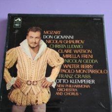 Discos de vinilo: BOX. LA VOZ DE SU AMO. SAN 174 L. AÑO 1968.. MOZART - DON GIOVANNI - 4 LP'S EN CAJA - SERIE ANGEL. Lote 261860495