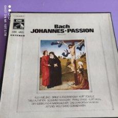 Discos de vinilo: JOYA CAJA 3 LPS. BACH JOHANNES PASSION. LA VOZ DE SU AMO J 165 28.951/3. SERIE ANGEL. CON LIBRETO.. Lote 261861395