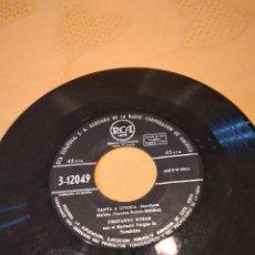 Discos de vinilo: BAL-3 DISCO 7 PULGADAS SIN CARATULA FERNANDO ROSAS CON EL MARIACHI VARGAS DE TECALITLAN *CARTA A UFE. Lote 261864260