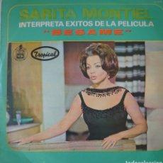 Discos de vinilo: SARITA MONTIEL LP SELLO HISPAVOX TROPICAL EDITADO EN COLOMBIA.... Lote 261864660