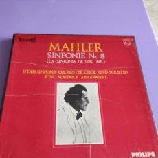 Discos de vinilo: CAJA. MAHLER. SINFONIE NR. 8. ( LA SINFONIA DE LOS MIL ) UTAH SINFONIE ORCESTER. MAURICE ABRAVANEL. Lote 261866215